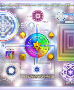 Original Advanced Quantum Matrix Manifestation Plate Artwork
