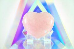 Heart Shaped Rose Quartz Crystal